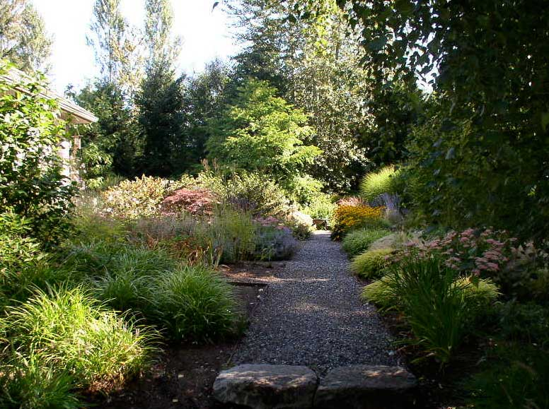 Photo of perennial garden and walks