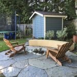 North Seattle Seat wall and patio with fire pit