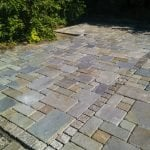 North Seattle, tumble bluestone an granite cobbles patio