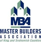 We're members of the Master Builders Association